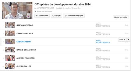 Interviews vidéo des lauréats des Trophées 2014